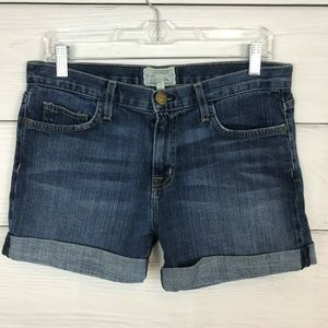 Current/Elliott Boyfriend Rolled Denim Shorts 26